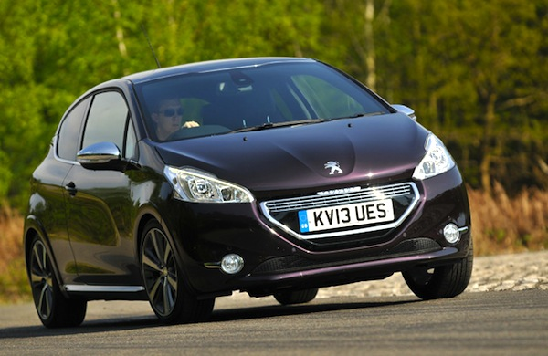 Peugeot 208 UK September 2014. Picture courtesy of what car.co.uk