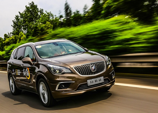 Buick Envision China October 2014. Picture courtesy of auto.ifeng.com