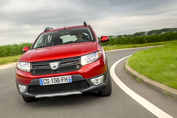 Dacia Sandero France July 2015. Picture courtesy of largus.fr