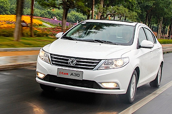 Dongfeng Fengshen A30 China October 2014. Picture courtesy of auto.163.com