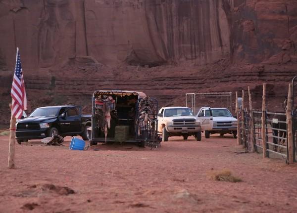 Monument Valley pickup trucks