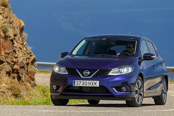 Nissan Pulsar Spain November 2014. Picture courtesy of largus.fr