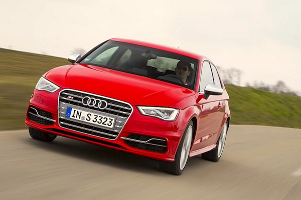 Audi A3 Belgium January 2015. Picture courtesy of largus.fr