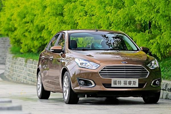 Ford Escort China December 2014. Picture courtesy of auto.163.com