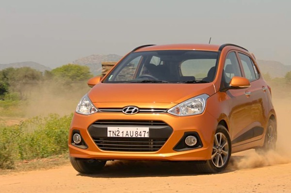 Hyundai Grand i10 Angola 2014. Picture courtesy of motorbeam.com