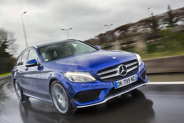 Mercedes C-Class Belgium September 2015. Picture courtesy of largus,fr
