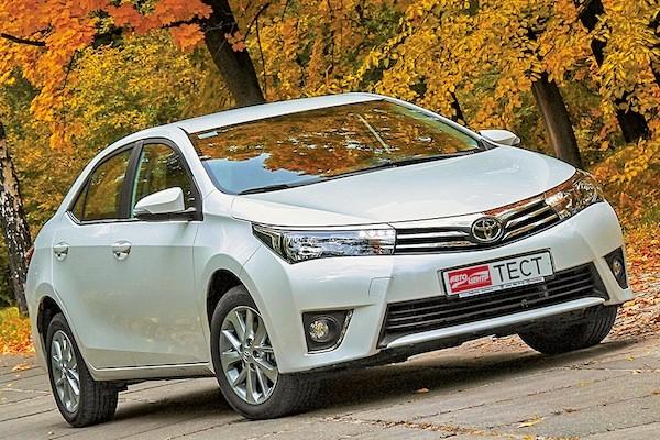 Toyota Corolla Ukraine 2014. Picture courtesy autocentre.ua