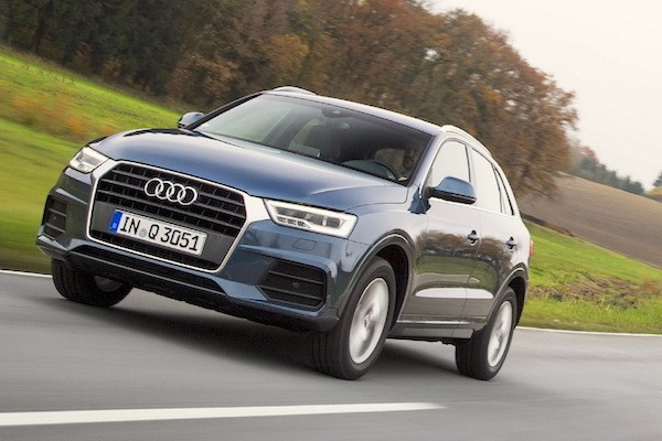 Audi Q3 Germany March 2015. Picture courtesy largus.fr