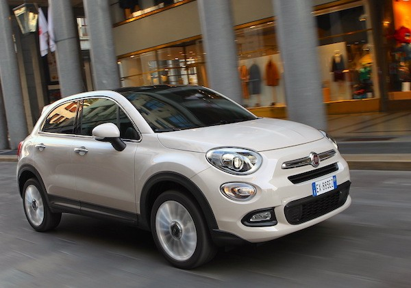Fiat 500X Lithuania 2016. Picture courtesy largus.fr