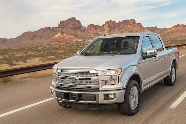Ford F-150 USA January 2015. Picture courtesy motortrend.com