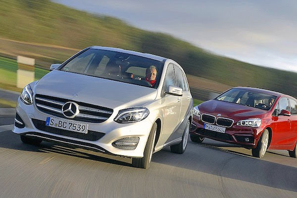 germany january 2015 mercedes b class and mini up best. Black Bedroom Furniture Sets. Home Design Ideas