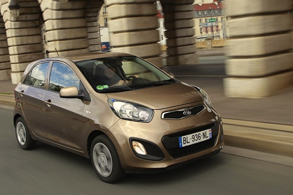 Kia Picanto Netherlands February 2015. Picture courtesy largus.fr