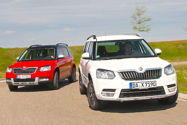 Skoda Yeti Germany February 2015. Picture courtesy autobild.de