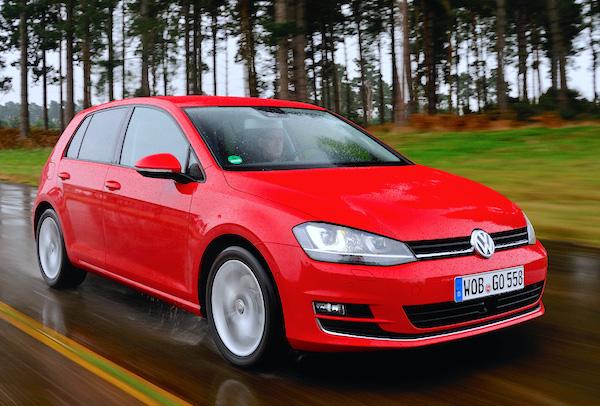 VW Golf UK February 2015. Picture courtesy autoexpress.co.uk