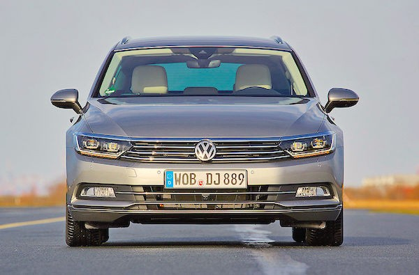 VW Passat Europe February 2015. Picture courtesy autobild.de