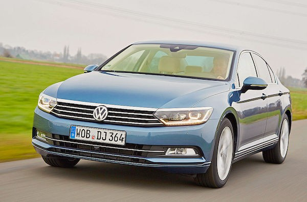 VW Passat Europe November 2015. Picture courtesy autobild.de