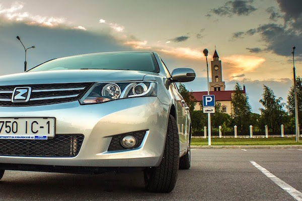 Zotye Z300 Belarus January 2015. Picture courtesy auto.onliner.by