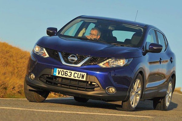 Nissan Qashqai UK March 2015. Picture courtesy whatcar.co.uk