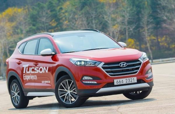 Hyundai Tucson South Korea March 2015. Picture courtesy visualdrive.co.kr
