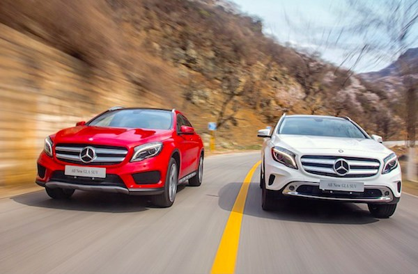 Mercedes GLA China April 2015. Picture courtesy wolfexp.net
