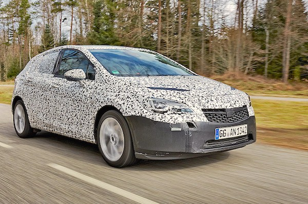 Opel Astra K Germany May 2015. Picture courtesy autobild.de