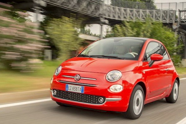 Fiat 500 France July 2015. Picture courtesy largus.fr