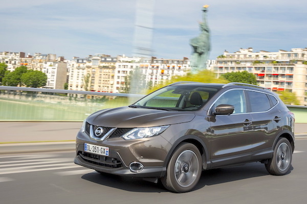 Nissan Qashqai Europe June 2015. Picture courtesy largus.fr