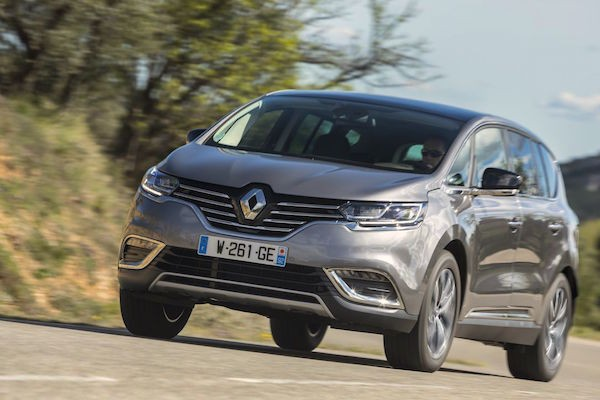 Renault Espace France September 2015. Picture courtesy largus.fr