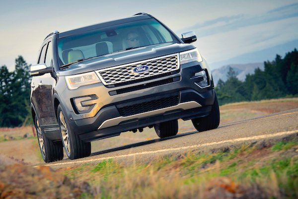Ford Explorer Colombia May 2016. Picture courtesy motortrend.com