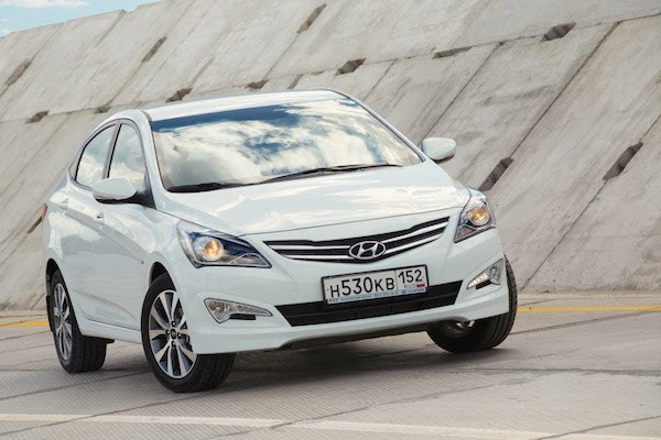 Hyundai Solaris Russia 2015. Picture courtesy Youtube
