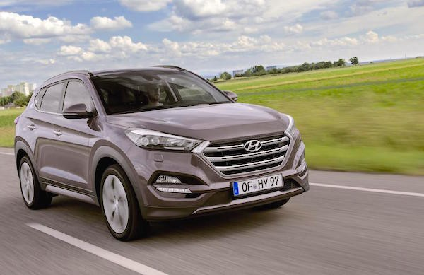 Hyundai Tucson Norway July 2015. Picture courtesy itempo.no