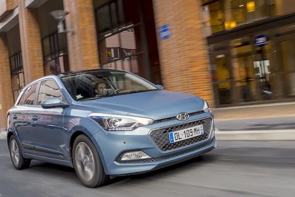 Hyundai i20 Austria August 2015. Picture courtesy largus.fr