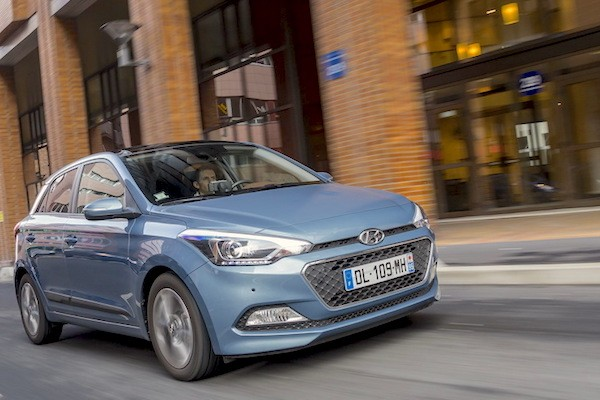 Hyundai i20 France June 2016. Picture courtesy largus.fr