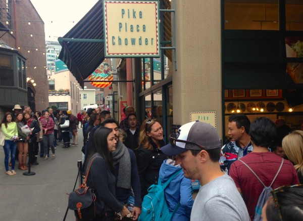 5. Seattle Chowder queue