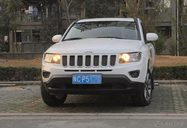 Jeep Compass China October 2015. Picture courtesy itc.cn