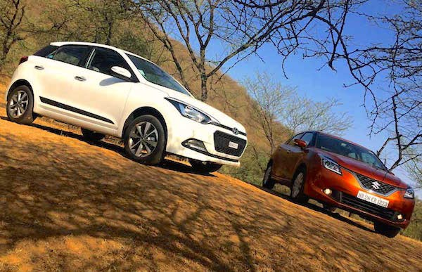 Maruti Baleno Hyundai Elite i20 India November 2015. Picture courtesy ndtv.com