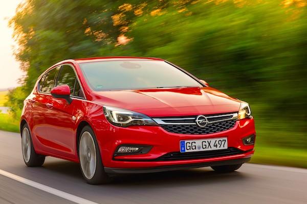 Opel Astra Germany December 2015