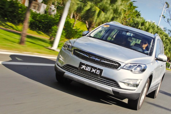 Zotye X5 China November 2015. Picture courtesy auto.sohu.com