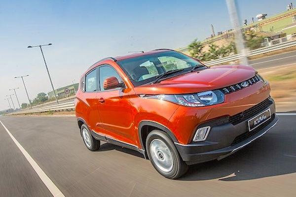 Mahindra KUV100 India January 2016. Picture courtesy zigwheels.com