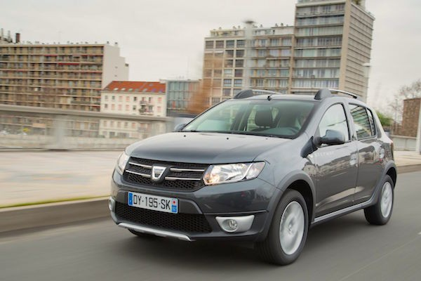 Dacia Sandero Spain April 2016. Picture courtesy largus.fr