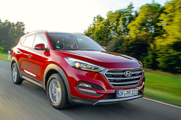 Hyundai Tucson Germany February 2016. Picture courtesy autobild.de