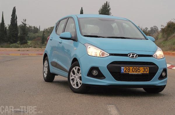 Hyundai i10 Israel January 2016. Picture courtesy cartube.co.il