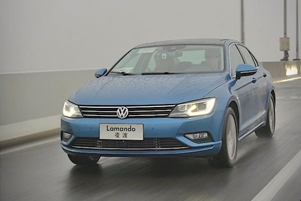 VW Lamando China March 2016. Picture courtesy xcar.com.cn