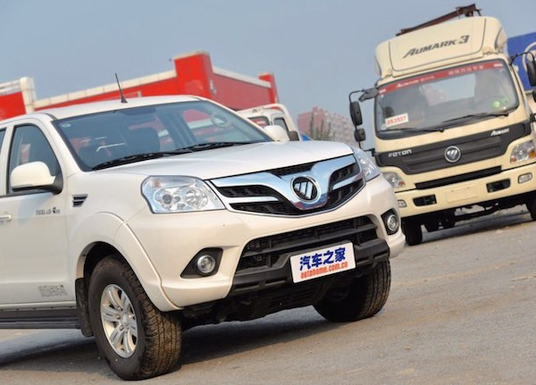 Foton Tunland China May 2016. Picture courtesy autohome.com.cn