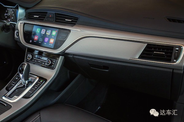 Geely Emgrand GS interior China May 2016. Picture courtesy auto.sina.cn