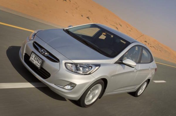 Hyundai Accent Saudi Arabia April 2016. Picture courtesy automiddleeast