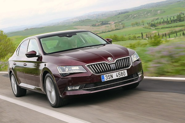 Skoda Superb Germany May 2016. Picture courtesy autobild.de