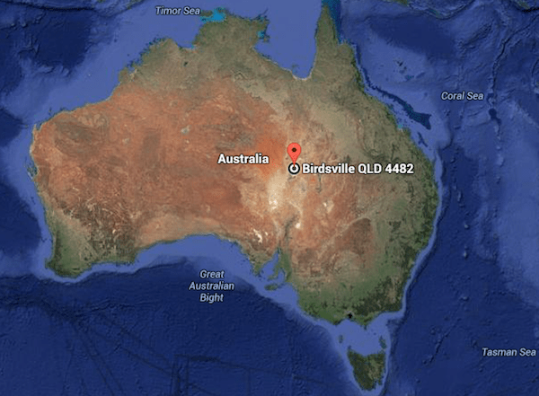 Birdsville location Australia