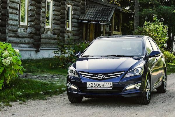 Hyundai Solaris Russia June 2016. Picture courtesy trendymen.ru