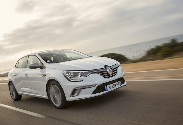 Renault Megane France June 2016. Picture courtesy largus.fr